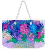 Basket Of Hydrangeas Weekender Tote Bag