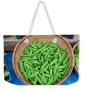 Basket Of Organic Fresh Sugar Snap Peas Art Prints Weekender Tote Bag
