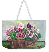 Basket Of Pansies Weekender Tote Bag