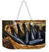 Basket With Bottles Weekender Tote Bag