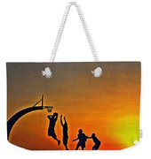 Basketball Sunrise Weekender Tote Bag
