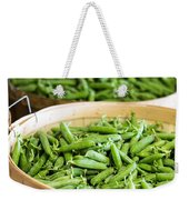 Baskets Of Fresh Picked Peas Weekender Tote Bag