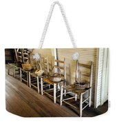 Baskets On Ladder Back Chairs Weekender Tote Bag by Lynn Palmer