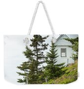Bass Harbor Light Station Overlooking The Bay Weekender Tote Bag