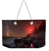 Bass Harbor Lighthouse Milky Way Weekender Tote Bag