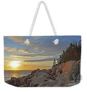 Bass Harbor Lighthouse Sunset Landscape Weekender Tote Bag