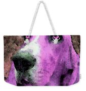 Basset Hound - Pop Art Pink Weekender Tote Bag