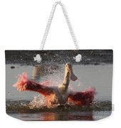 Bath Time - Roseate Spoonbill Weekender Tote Bag