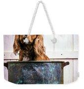 Bath Time - King Charles Spaniel Weekender Tote Bag