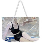 Bather In A Black Swimsuit Weekender Tote Bag