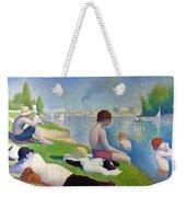 Bathers In Asnieres Weekender Tote Bag