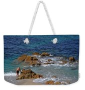 Bathing In The Sea - La Coruna Weekender Tote Bag by Mary Machare
