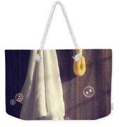Bathroom Towel Weekender Tote Bag by Amanda Elwell