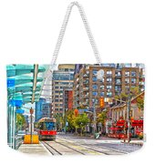 Bathurst Street Car Coming North To Queen Street Weekender Tote Bag