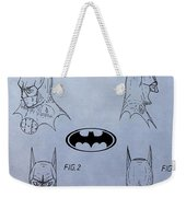 Batman Mask Patent Weekender Tote Bag