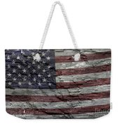 Battered Old Glory Weekender Tote Bag