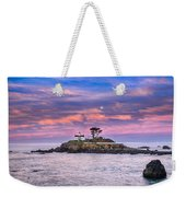 Battery Point Lighthouse And Moon Weekender Tote Bag