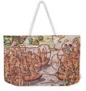 Battle Between Indian Tribes Weekender Tote Bag