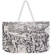 Battle Between Tuppin Tribes Weekender Tote Bag