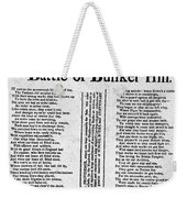 Battle Of Bunker Hill Weekender Tote Bag