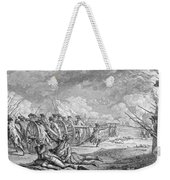 Battle Of Lexington, April 19th 1775, From Recueil Destampes By Nicholas Ponce, Engraved Weekender Tote Bag