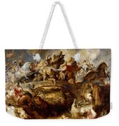 Battle Of The Amazons Weekender Tote Bag