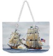 Battle Sail Weekender Tote Bag