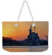 Battleship Sunset Weekender Tote Bag