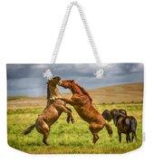 Battling Stallions Weekender Tote Bag