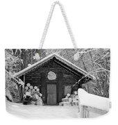 Bavarian Hut In Snow Weekender Tote Bag