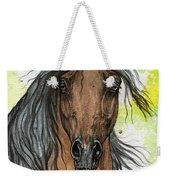 Bay Arabian Horse Watercolor Painting  Weekender Tote Bag