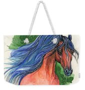 Bay Arabian Horse With Blue Mane 30 10 2013 Weekender Tote Bag