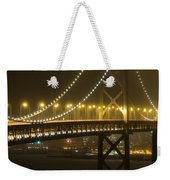 Bay Bridge Fog Weekender Tote Bag