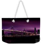 Bay Bridge Purple Haze Weekender Tote Bag
