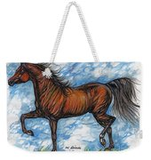 Bay Horse Running Weekender Tote Bag