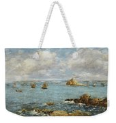 Bay Of Douarnenez Weekender Tote Bag by Eugene Louis Boudin