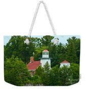 Bay Of Green Bay Lighthouse Weekender Tote Bag