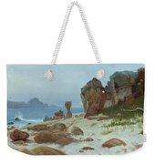 Bay Of Monterey Weekender Tote Bag by Albert Bierstadt