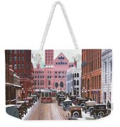 Bay Street Christmas Eve 1924 Weekender Tote Bag
