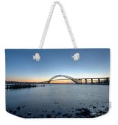 Bayonne Bridge Longe Exposure Sunset Weekender Tote Bag