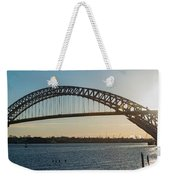 Bayonne Bridge Panoram Sunset Weekender Tote Bag