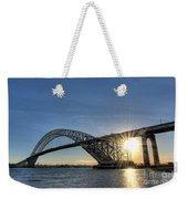 Bayonne Bridge Sunburst Weekender Tote Bag