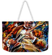 Bb King - Palette Knife Oil Painting On Canvas By Leonid Afremov Weekender Tote Bag