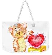 Be My Valentine Teddy Bear Weekender Tote Bag