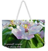 Be Yourself Flower Weekender Tote Bag