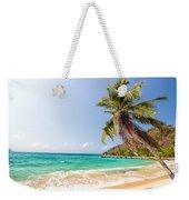 Beach And Palm Tree Weekender Tote Bag