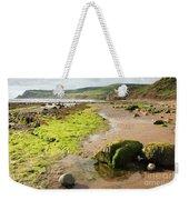 Beach At Robin Hoods Bay Weekender Tote Bag by Deborah Benbrook