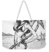 Beach Babe Model Weekender Tote Bag
