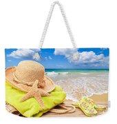 Beach Bag With Sun Hat Weekender Tote Bag
