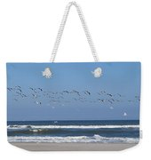 Beach Birds In Flight Weekender Tote Bag